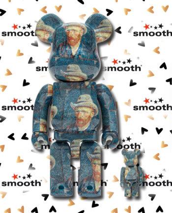 Medicom Toy Van Gogh Museum Self Portrait Bearbrick set 100% 400%