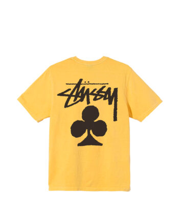 Stussy Club Pigment Dyed Tee Yellow 1904670
