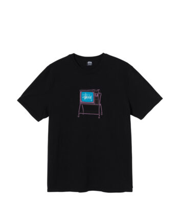 Stussy Rolling Tv Pigment Dyed Tee Black 1904672