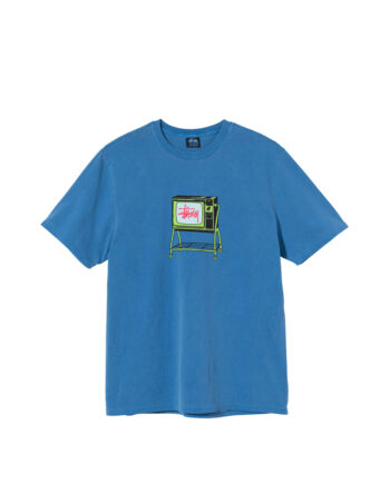 Stussy Rolling Tv Pigment Dyed Tee Blue 1904672