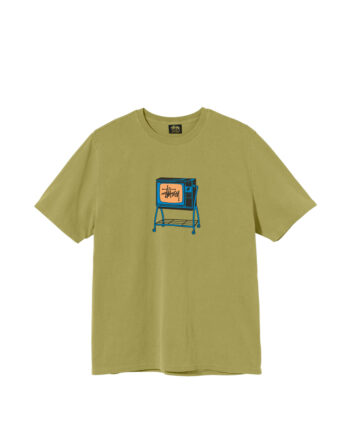 Stussy Rolling Tv Pigment Dyed Tee Citron 1904672