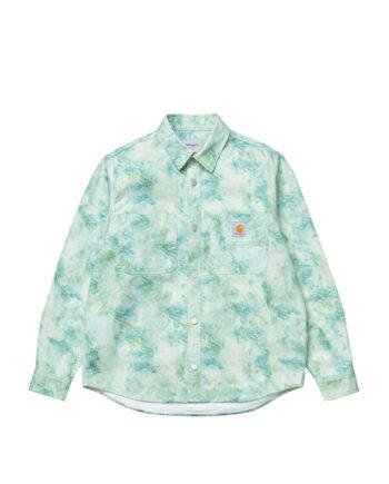 Carhartt Wip L/S Marble Shirt Marble Print/Wave Stone I029168-3