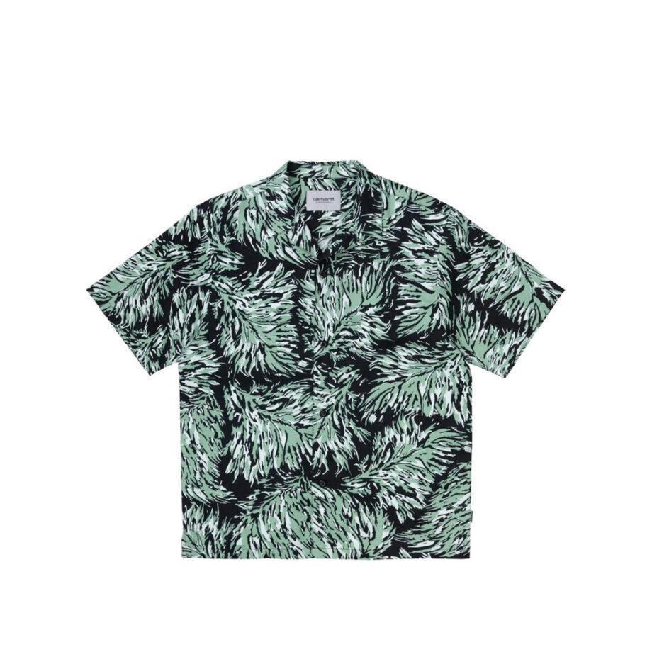 Carhartt Wip S/S Hinterland Shirt Hinterland Print/Black I028796-3