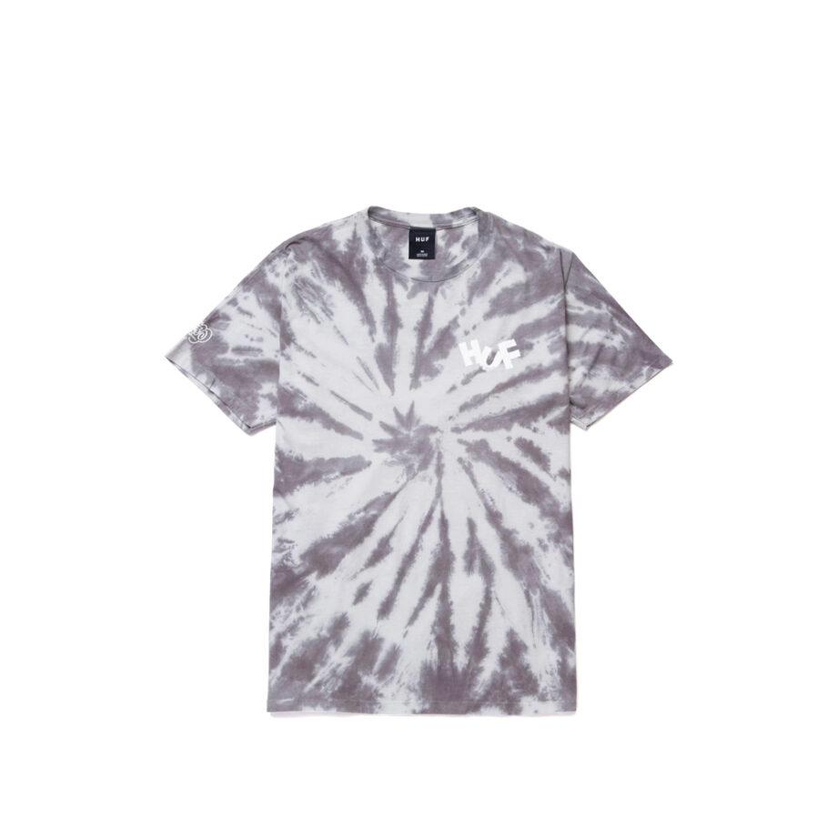 Haze Brush Tie Dye S/S Tee Black TS01383