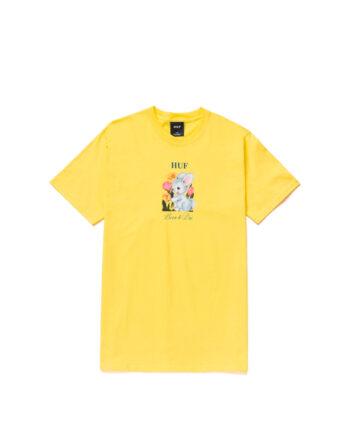 Huf Born To Die S/S Tee Yellow TS01332