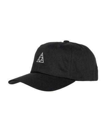 Huf Essentials Triple Triangle CV 6 Panel Hat Black HT00346