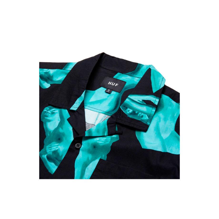 Huf S/S Her Resort Shirt Black BU00094