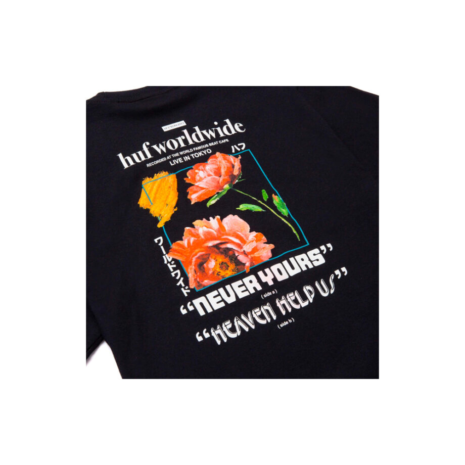 Huf Never Yours S/S T-Shirt Black TS01457