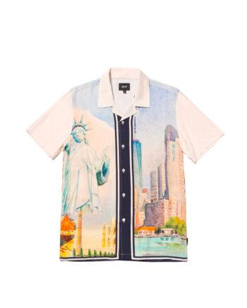 Huf Prestige S/S Resort Shirt White BU00095