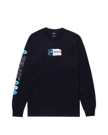 Huf Relax Long Sleeve Tee Black TS01340