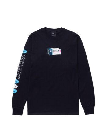 Huf Relax Long Sleeve Tee Black TS01340