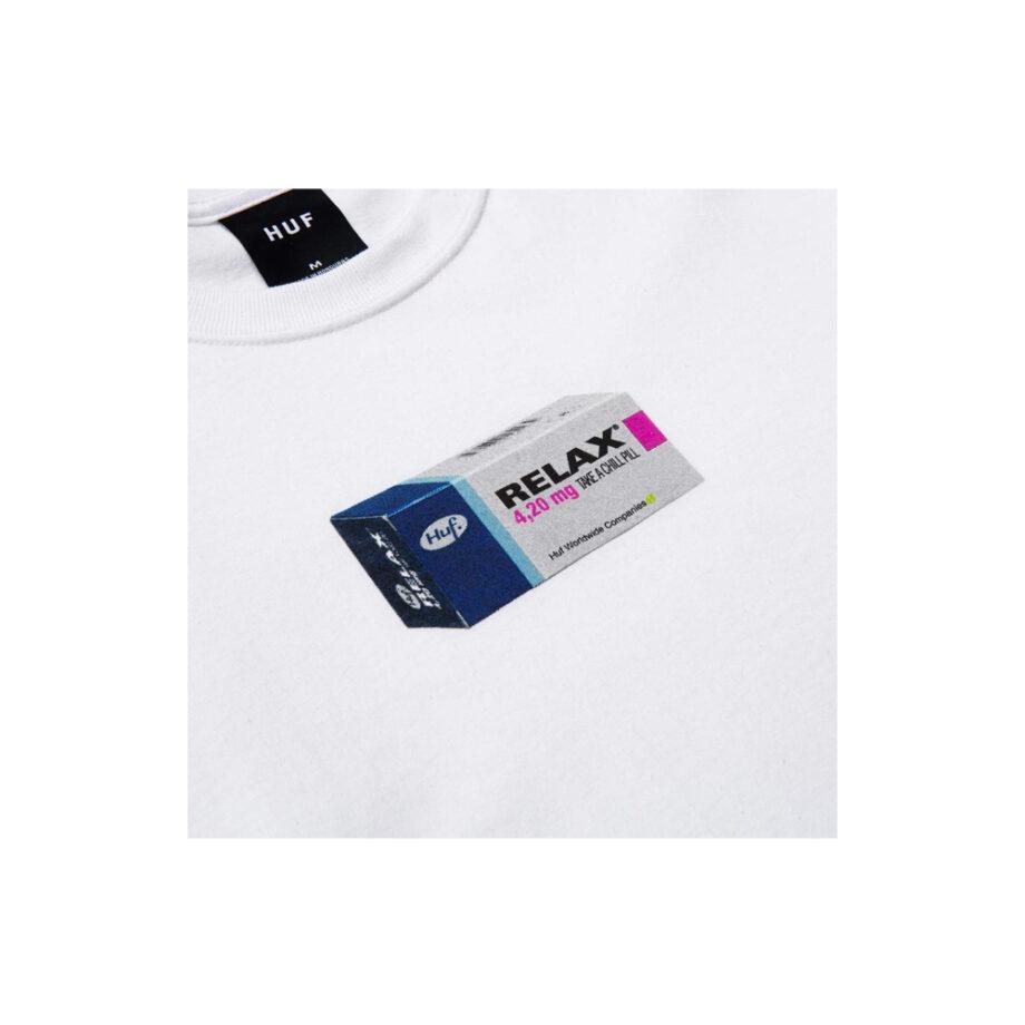 Huf Relax Long Sleeve Tee White TS01340