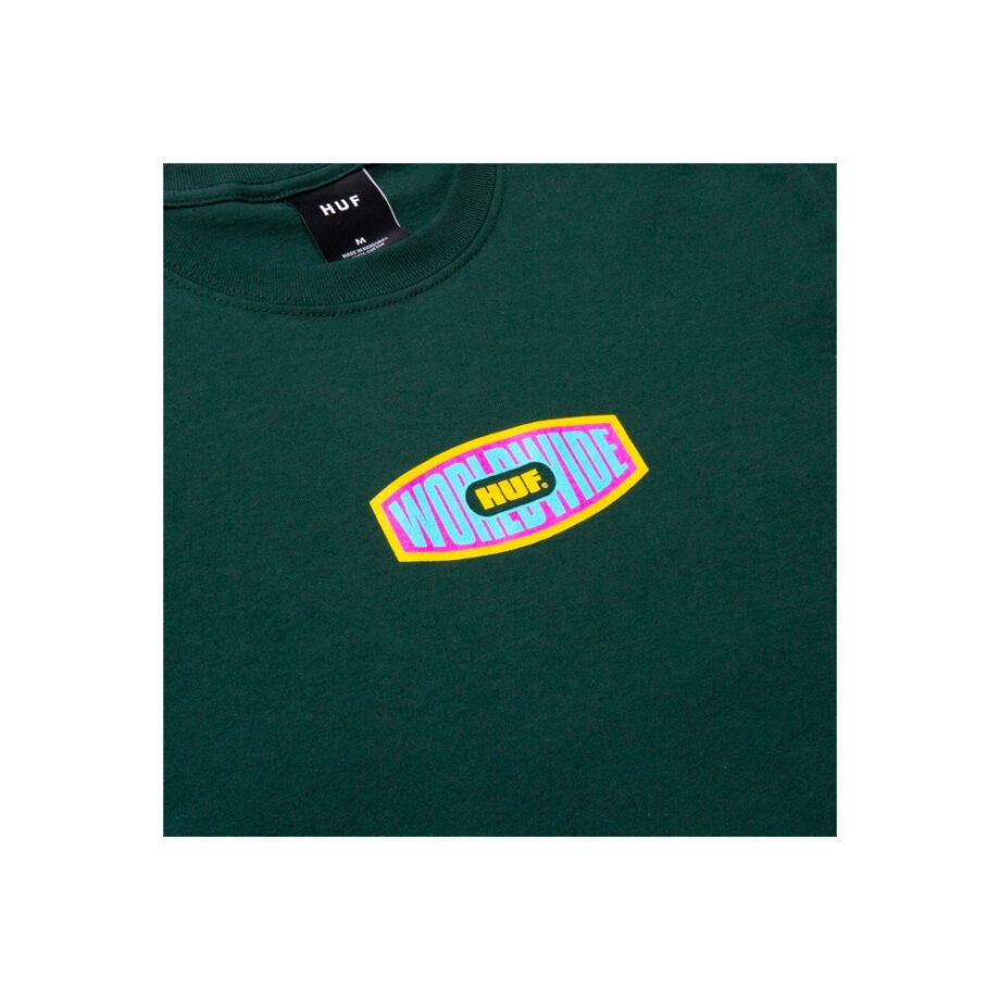 Huf Workmans S/S Tee Dark Green TS01338