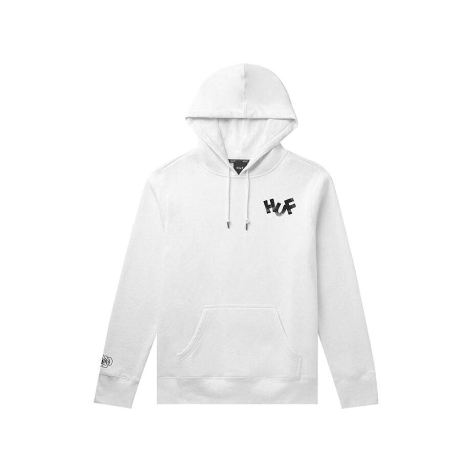Huf x Haze Brush Pullover Hoodie White PF00369