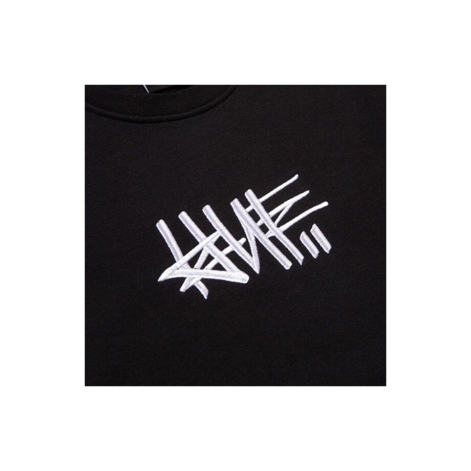 Huf x Haze Handstyle 1 Crew Neck Sweatshirt Black PF00370