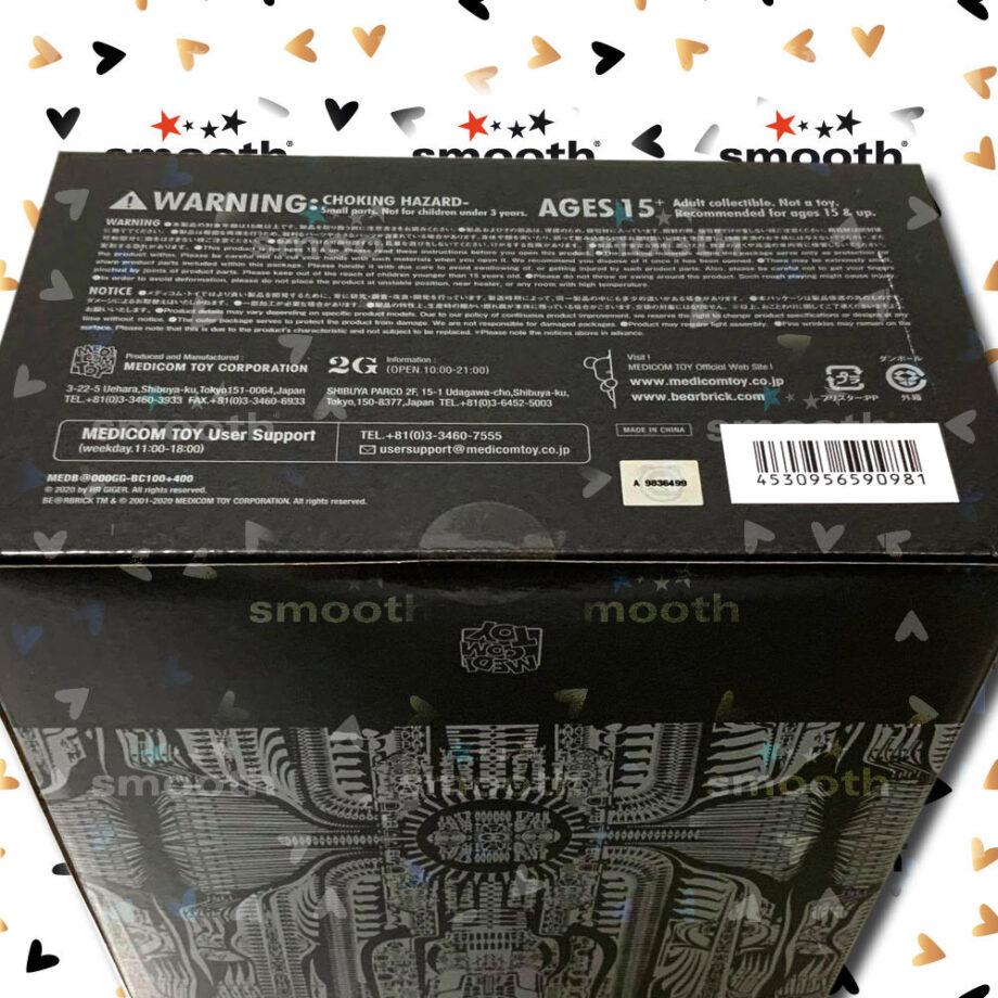 Medicom Toy H. R. Giger Black Chrome Version Bearbrick set 100% 400% Limited Edition