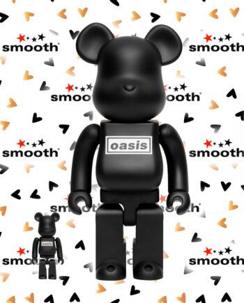 Medicom Toy Oasis Bearbrick Set Black Rubber Coating 100% 400