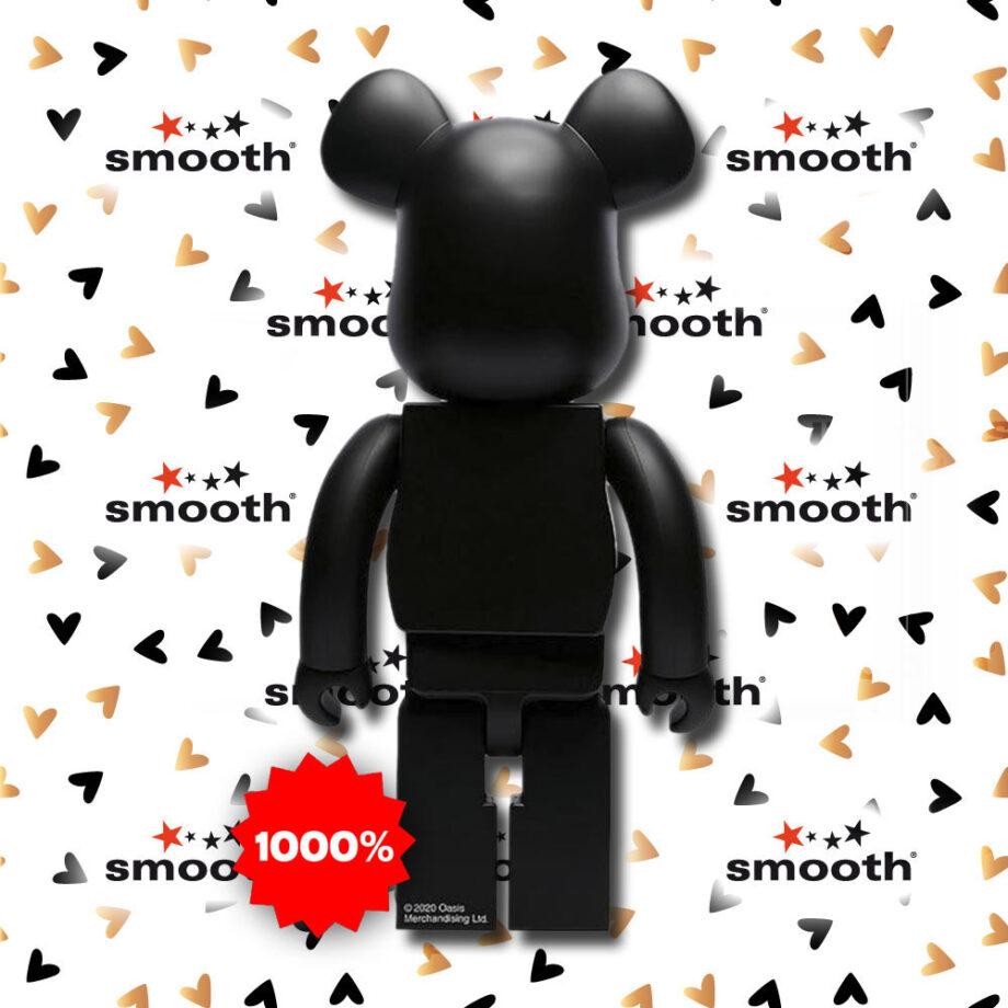 Medicom Toy Oasis Bearbrick Black Rubber Coating 1000%