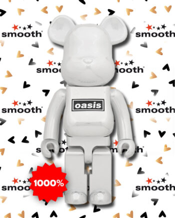 Medicom Toy Oasis Bearbrick Set White Chrome 1000%