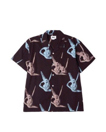 Obey Angelito Woven S/S Shirt Black/Multi 181210309