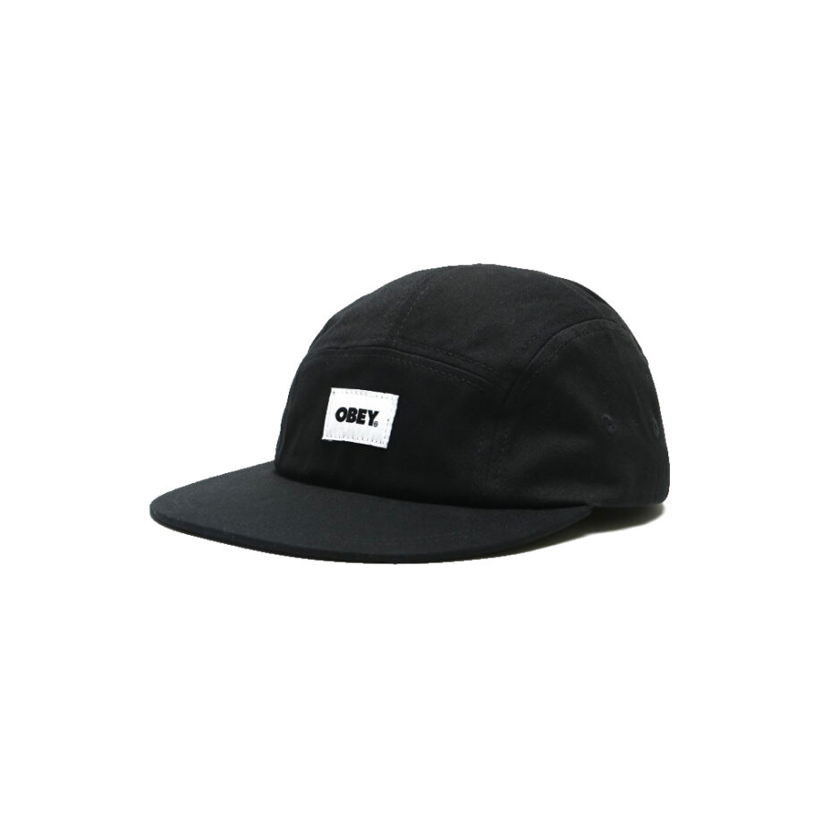 Obey Bold Label Organic 5 Panel Hat Blacka 100490077