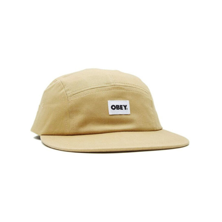 Obey Bold Label Organic 5 Panel Hat Almond 100490077