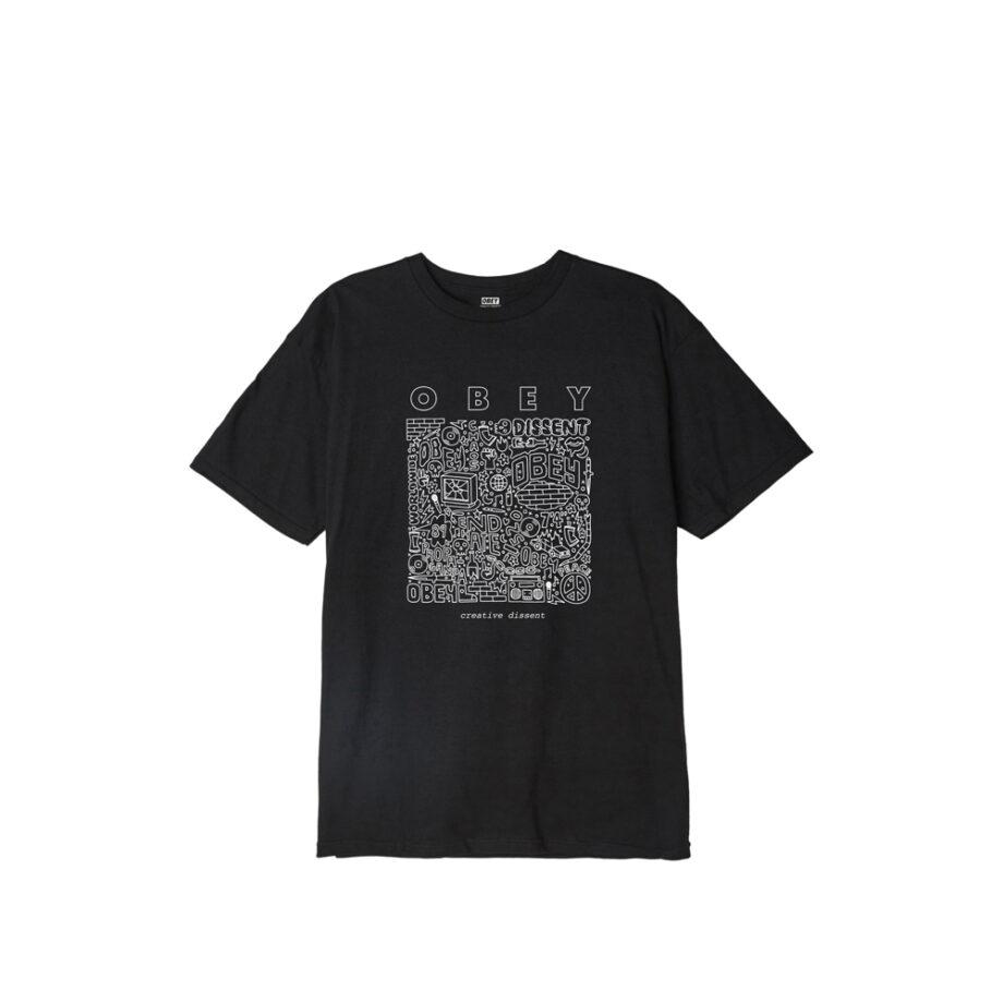 Obey Creative Dissent Classic T-Shirt 165262586 Black