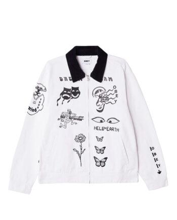 Obey Dream Team Denim Jacket White 121800468