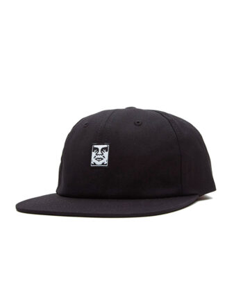 Obey Icon Face 6 Panel Strapback Black 100580251