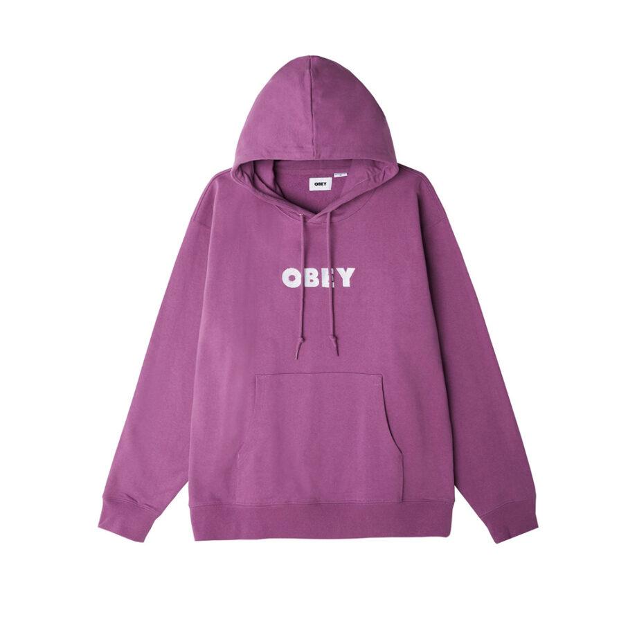 Obey Logo Hoodie Purple Nitro 112470123
