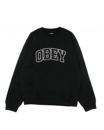 Obey Sports III Crew Hoodie Black 112480092