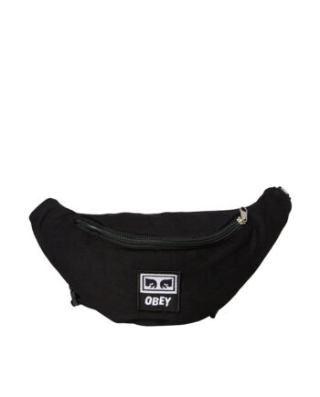 Obey Wasted Hip Bag Black Twill 100010098