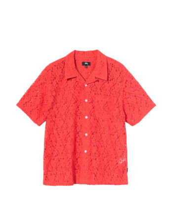 Stussy Floral Pattern Lace Shirt Orange 1110178