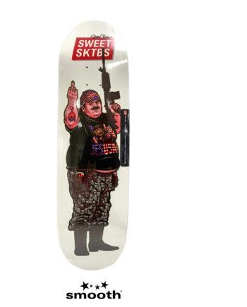 "Sweet Sktbs x Sean Cliver Euro Trash Skateboard Deck White Trash White 7332846379334- 8.8"""
