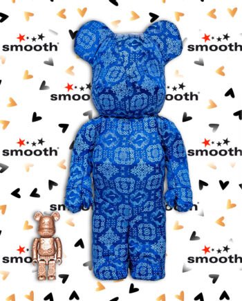 Medicom Toy x Clot x Nike Royale University Blue Silk Bearbrick Set 100% 400%