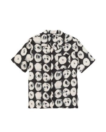 Stussy Hand Drawn Houndstooth Shirt Black 1110158
