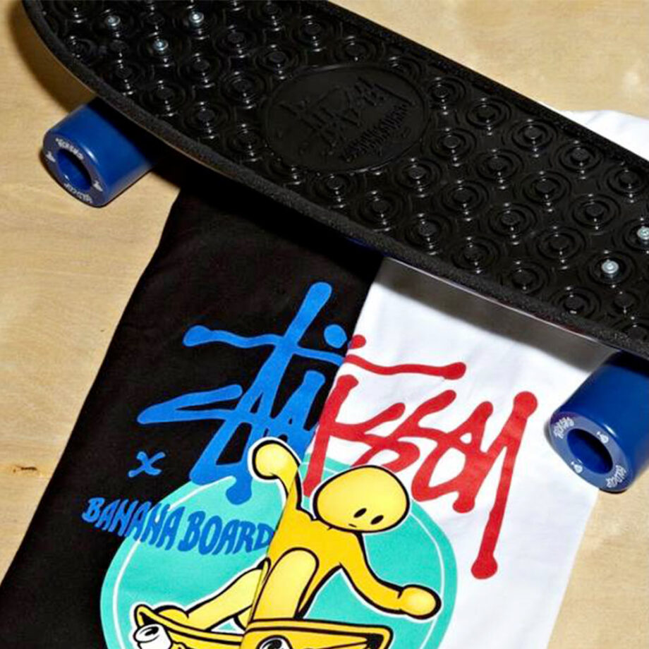Stussy Customade x Banana Board SC Lance White Tee Limited Edition SHSC3902457