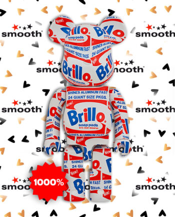 "Medicom Toy Andy Warhol ""Brillo"" Bearbrick 1000%"