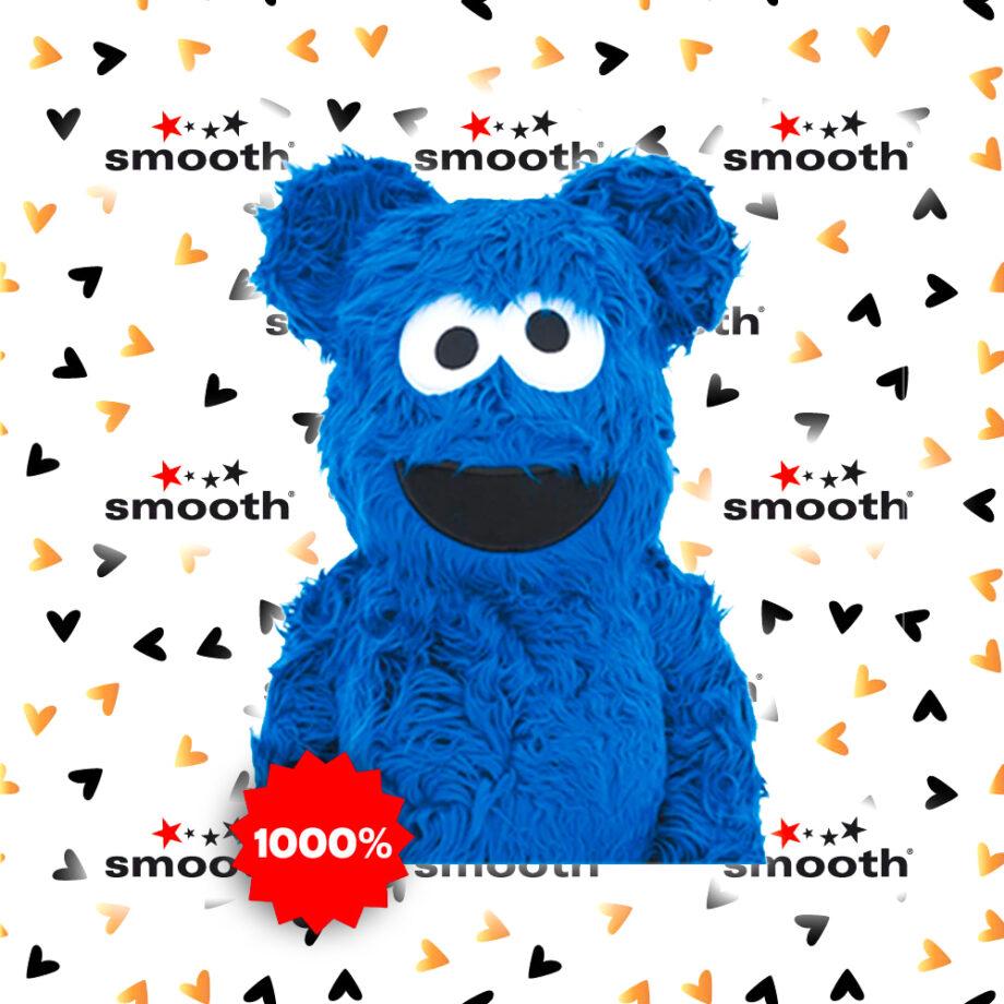 Medicom Toy Cookie Monster Costume Version Bearbrick 1000%