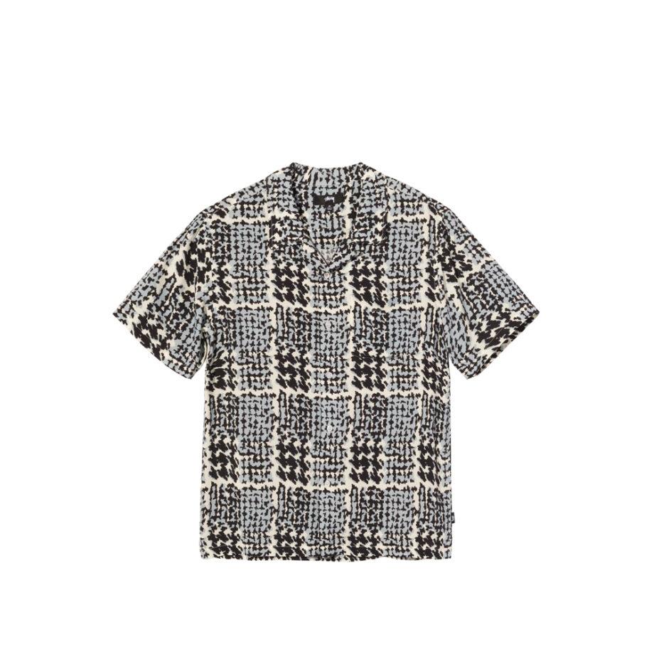 Stussy Hand Drawn Houndstooth Shirt Off White 1110150