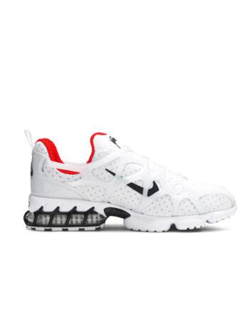 Stussy x Nike Air Zoom Spiridon Kukini White / Black-Habanero Red CJ9918-100