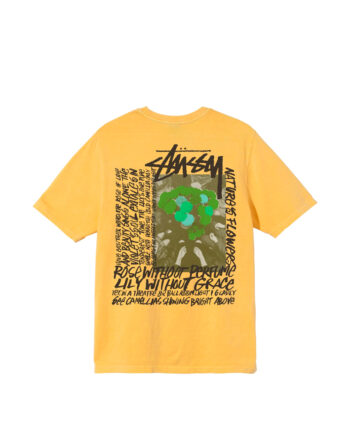 Stussy Camellias Pig Dyed Tee Yellow 1904695