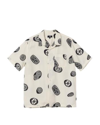 Stussy Icon Pattern Shirt Off White 1110171