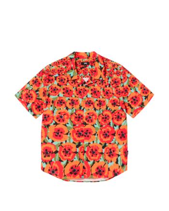 Stussy Poppy Shirt Orange 1110166