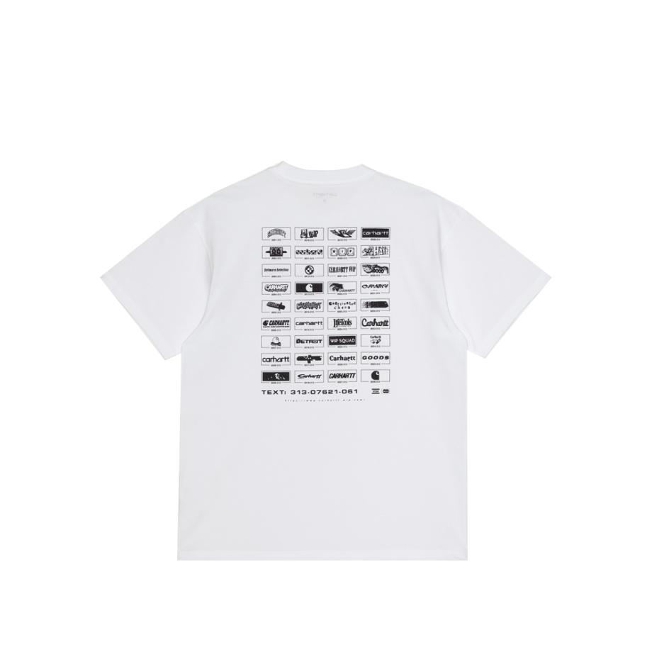 Carhartt Wip S/S Screensaver T-Shirt White / Black I029629-3