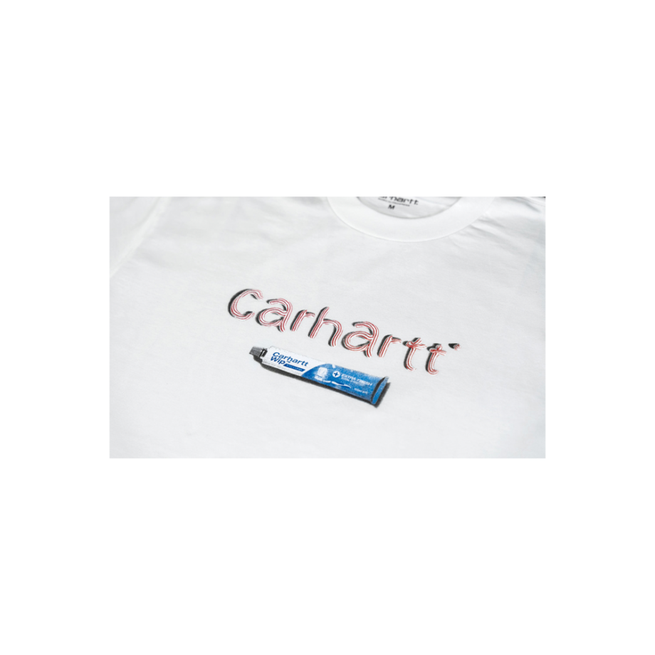 Carhartt Wip S/S Toothpaste T-Shirt White I029605-3
