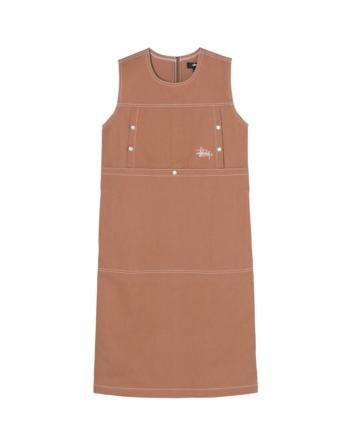 Stussy Stasy Dress Caramel 211213