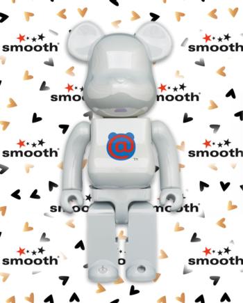 Medicom Toy 1st Model White Chrome Bearbrick 400%