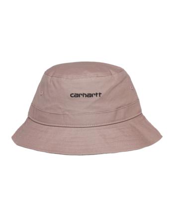 Carhartt Wip Script Bucket Hat Earthy Pink / Black I029937-16