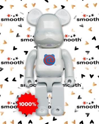 Medicom Toy 1st Model Bearbrick White Chrome 1000%